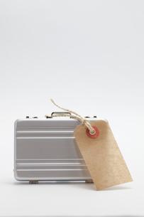 ミニチュアのスーツケースとタグの写真素材 [FYI01601660]