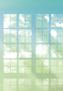 窓から差し込む光のイメージの写真素材 [FYI01601684]