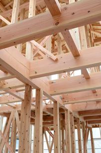 木造住宅の新築工事の写真素材 [FYI01601750]