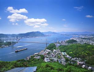 火の山より関門海峡を望むの写真素材 [FYI01601764]