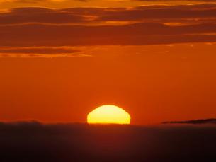 朝焼けの釧路湿原の写真素材 [FYI01601864]