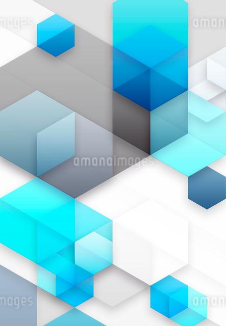 六角形と立方体のアブストラクトの写真素材 [FYI01601890]
