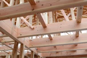木造住宅の新築工事の写真素材 [FYI01601937]