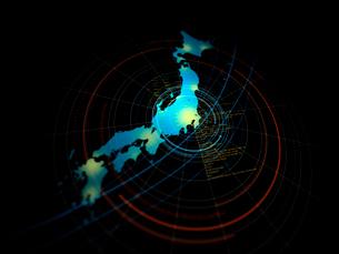 浅いピント描写のITイメージの日本地図の写真素材 [FYI01602170]