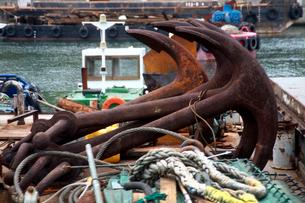 船の碇の写真素材 [FYI01602362]