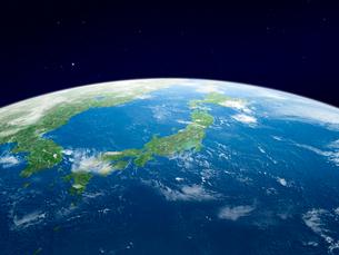 地球 軌道上より日本列島を望むのイラスト素材 [FYI01602519]