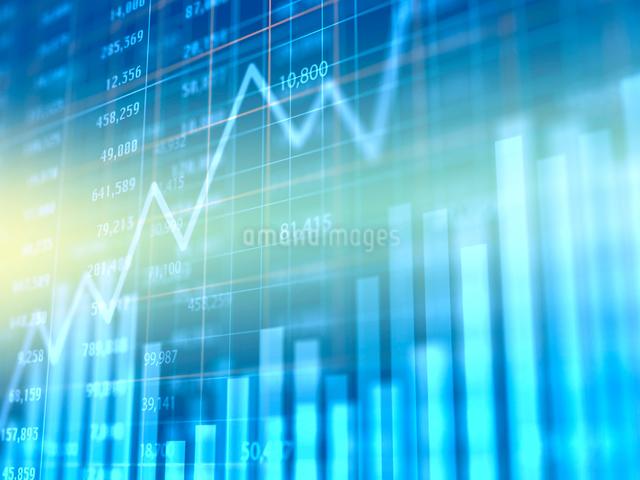 グラデーション背景の金融グラフのイラスト素材 [FYI01602533]