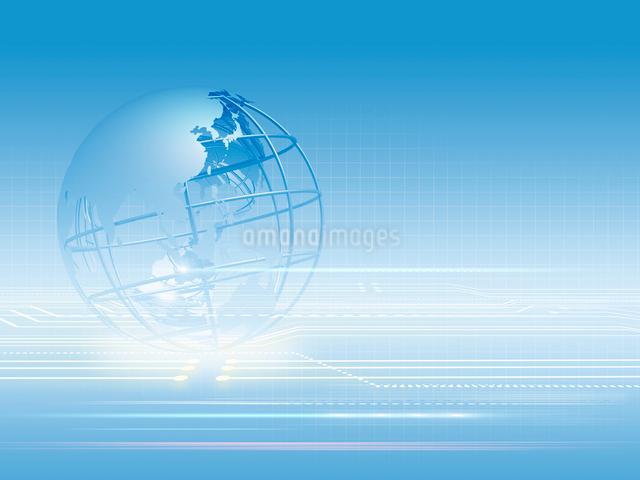 地球儀を配したグローバルイメージのイラスト素材 [FYI01602575]