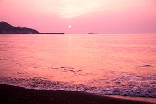 館山湾の夕景の写真素材 [FYI01602672]
