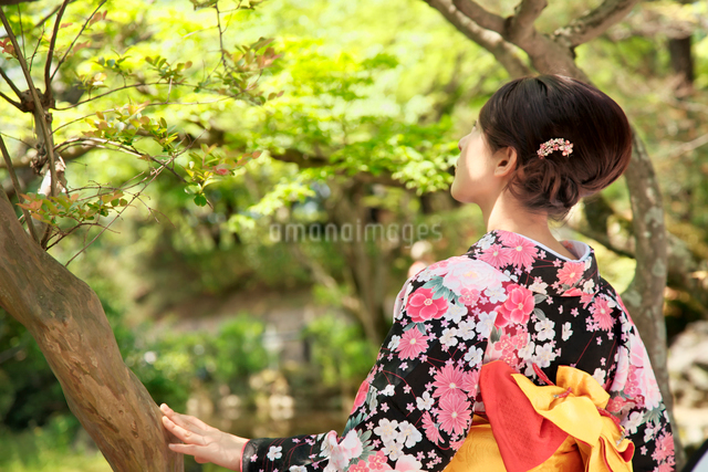 着物の女性の写真素材 [FYI01602860]