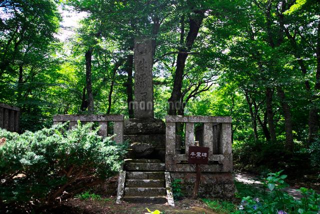 大山寺の牛霊碑(ぎゅうれいひ)の写真素材 [FYI01602998]