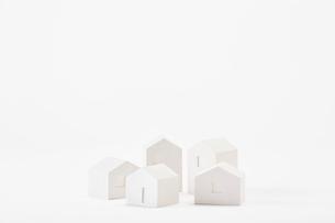 白い建物のオブジェ クラフトの写真素材 [FYI01603266]