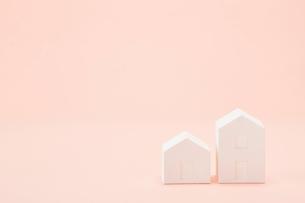 白い建物のオブジェ クラフトの写真素材 [FYI01603301]