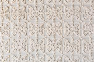 白のレース編みの布の写真素材 [FYI01603319]
