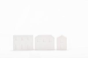 白い建物のオブジェ クラフトの写真素材 [FYI01603397]