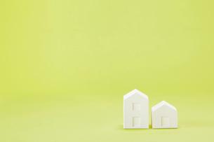 白い建物のオブジェ クラフトの写真素材 [FYI01603402]