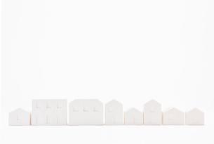 白い建物のオブジェ クラフトの写真素材 [FYI01603459]