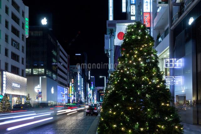クリスマスの銀座の写真素材 [FYI01603464]