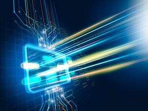 集中制御からデータ配信するタブレット型操作パネルのイラスト素材 [FYI01603499]