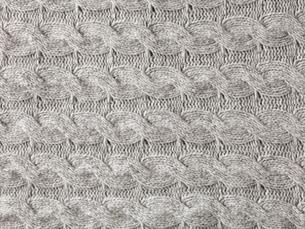 グレーのウールの布の写真素材 [FYI01603513]