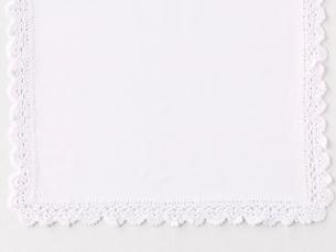 白のレースふちどりの布の写真素材 [FYI01603525]