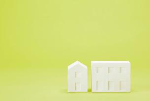 白い建物のオブジェ クラフトの写真素材 [FYI01603529]