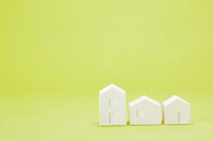 白い建物のオブジェ クラフトの写真素材 [FYI01603533]
