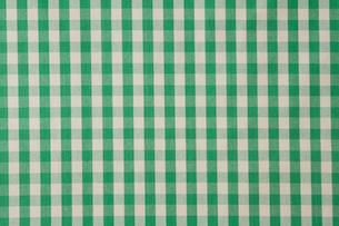 緑のチェックの布の写真素材 [FYI01603557]