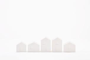 白い建物のオブジェ クラフトの写真素材 [FYI01603595]