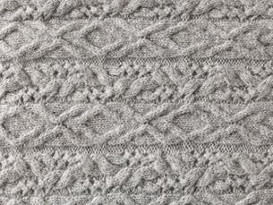グレーのウールの布の写真素材 [FYI01603597]