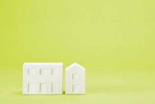 白い建物のオブジェ クラフトの写真素材 [FYI01603626]
