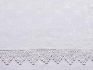 白いレースの布の写真素材 [FYI01603638]