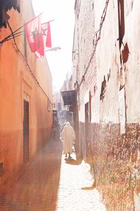 モロッコ マラケシュの旧市街の写真素材 [FYI01603689]