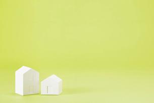 白い建物のオブジェ クラフトの写真素材 [FYI01603841]