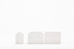 白い建物のオブジェ クラフトの写真素材 [FYI01603845]
