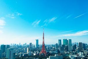 東京の眺めと東京タワーの写真素材 [FYI01603884]