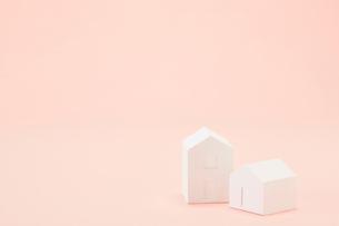白い建物のオブジェ クラフトの写真素材 [FYI01604045]