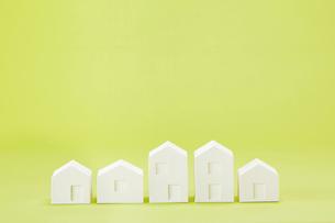白い建物のオブジェ クラフトの写真素材 [FYI01604051]