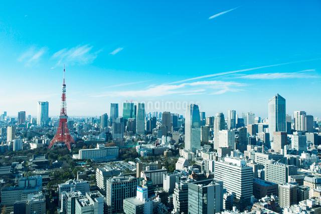 東京の眺めと東京タワーの写真素材 [FYI01604121]