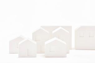 白い建物のオブジェ クラフトの写真素材 [FYI01604541]