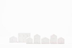 白い建物のオブジェ クラフトの写真素材 [FYI01604655]