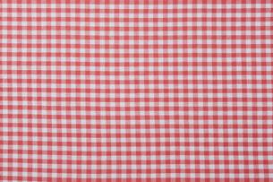 赤いチェックの布の写真素材 [FYI01604752]