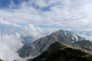 夏の杓子岳と鑓ヶ岳の写真素材 [FYI01605041]