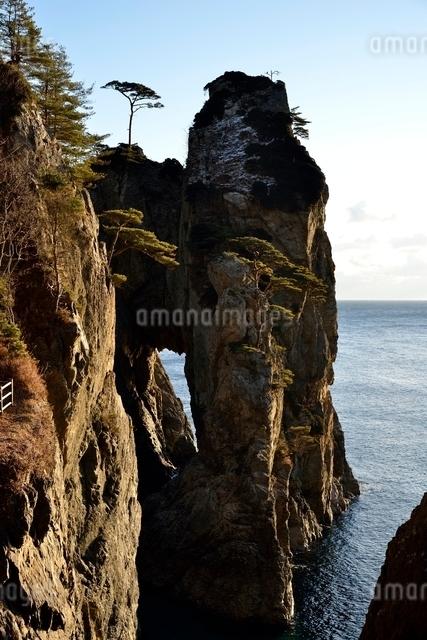 海岸に立つ岩の写真素材 [FYI01605111]