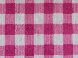 ピンクのチェックの布の写真素材 [FYI01605213]