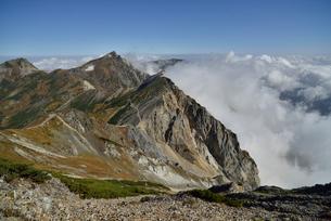 杓子岳と白馬岳と旭岳の写真素材 [FYI01606327]