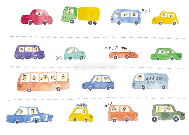 色々な車のイメージのイラスト素材 [FYI01606459]
