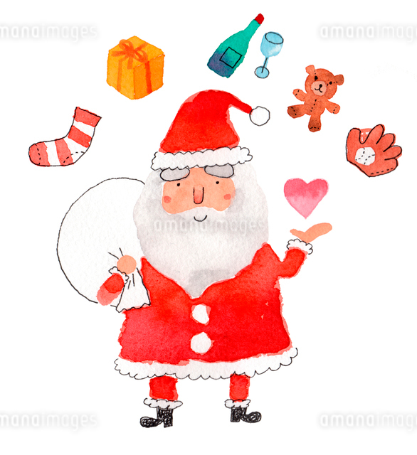 サンタのプレゼントのイラスト素材 [FYI01606822]