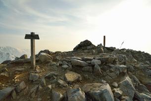 唐松岳の頂上の写真素材 [FYI01606976]