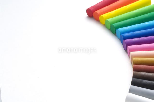 カラフルなクレパスの写真素材 [FYI01607251]